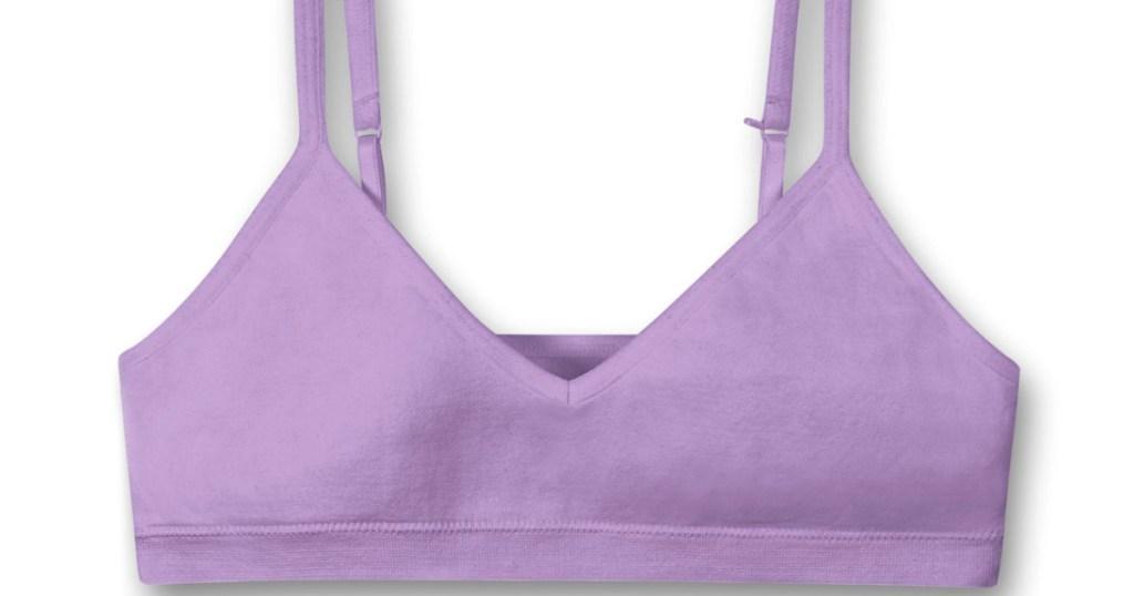 hanes girls bra purple