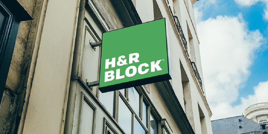 H&R Block sign on building
