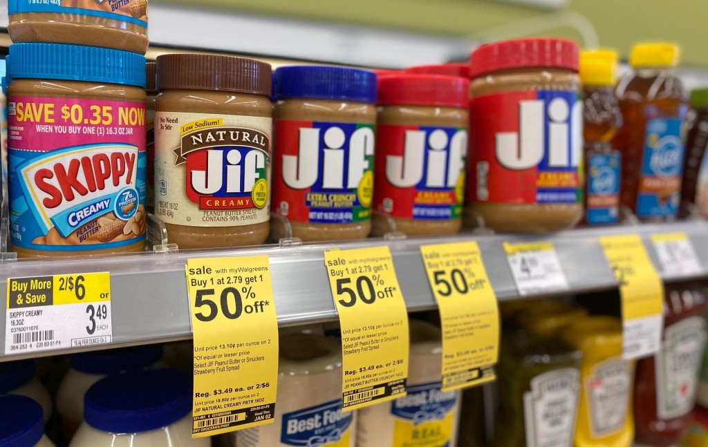 jif peanut butter in store at walgreens