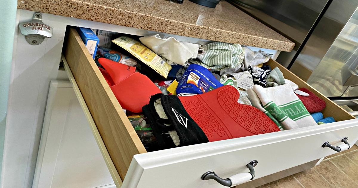 junk drawer organizing before