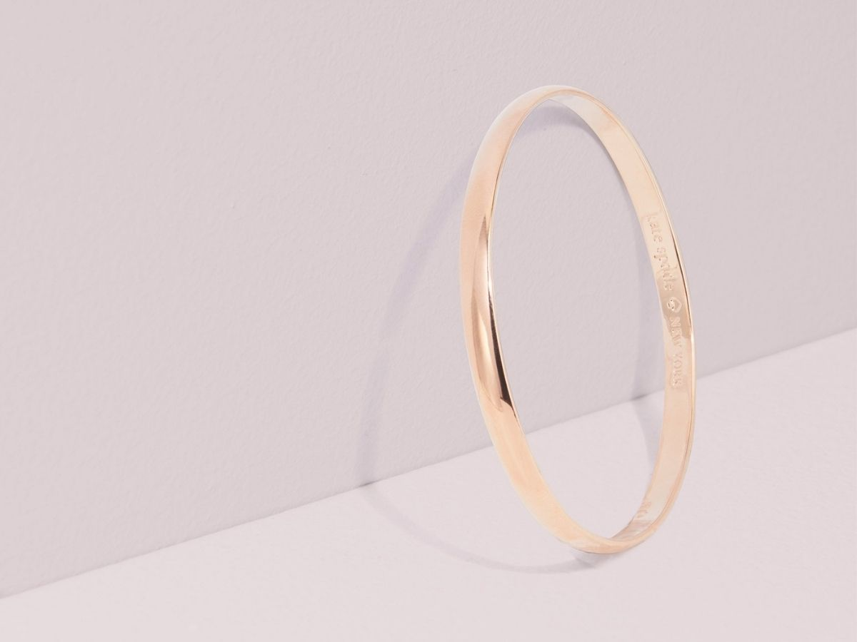 rose gold Kate Spade bangle