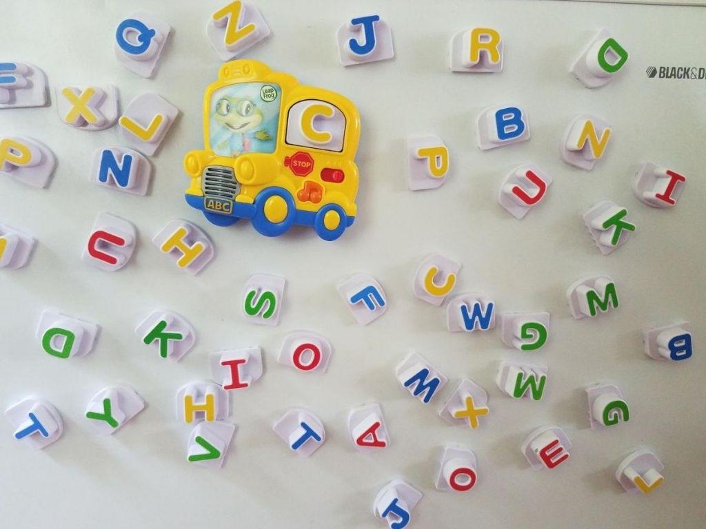 Leapfrog magnet letters on refrigerators