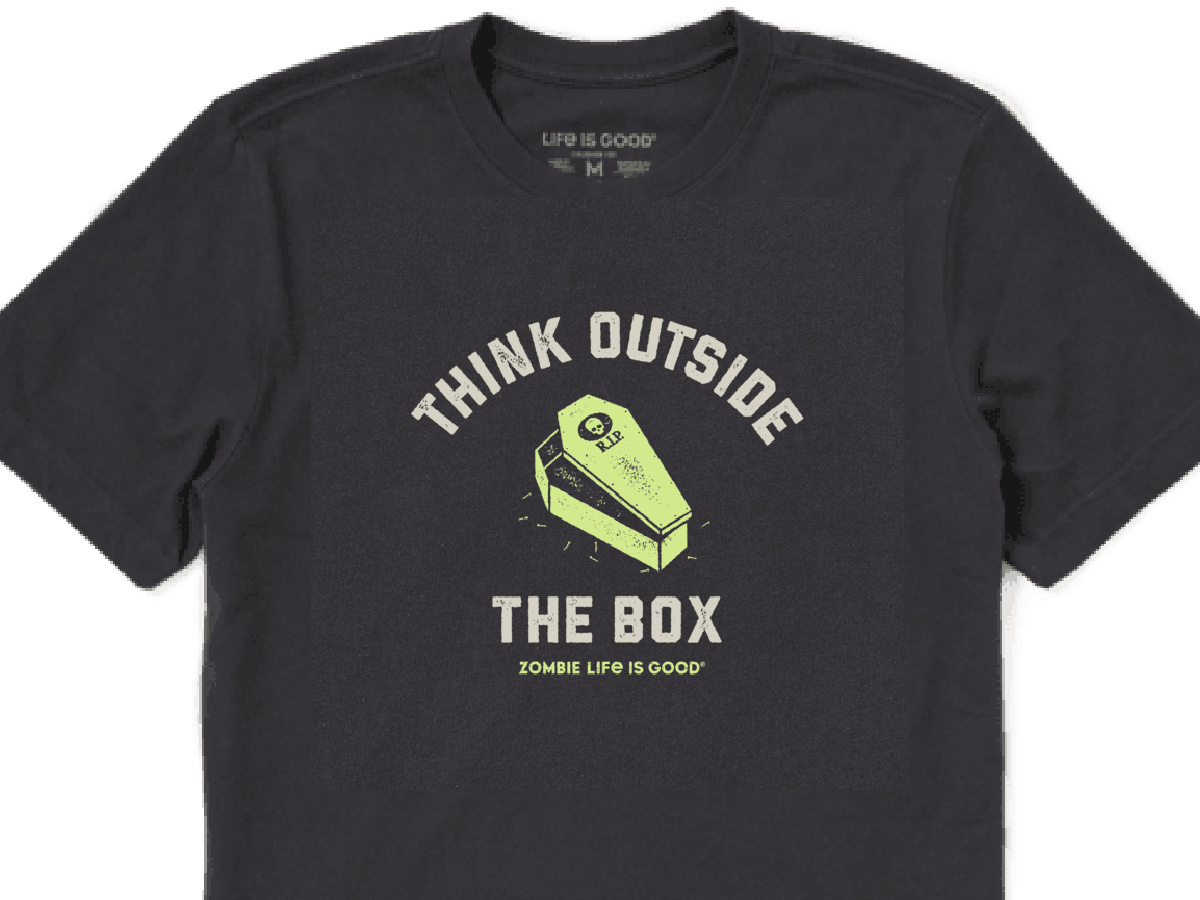 black life is good Men's Think Outside The Box Crusher Tee