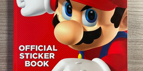 Super Mario Sticker Book Only $4.81 on Amazon | Over 1,000 5-Star Reviews