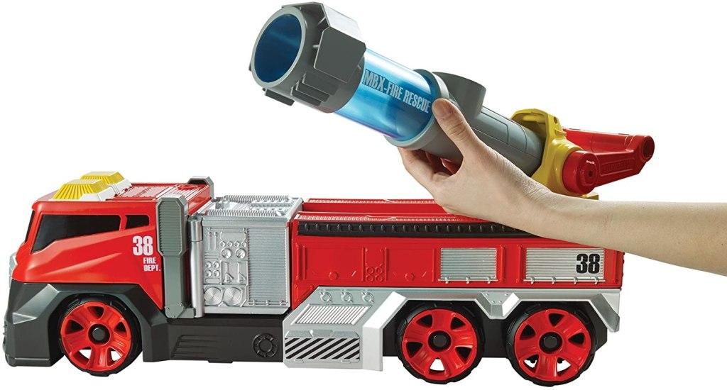 matchbox firetruck with hand