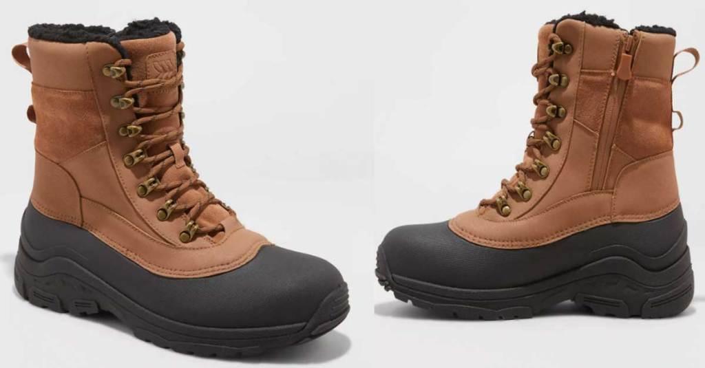 men's boots stock image