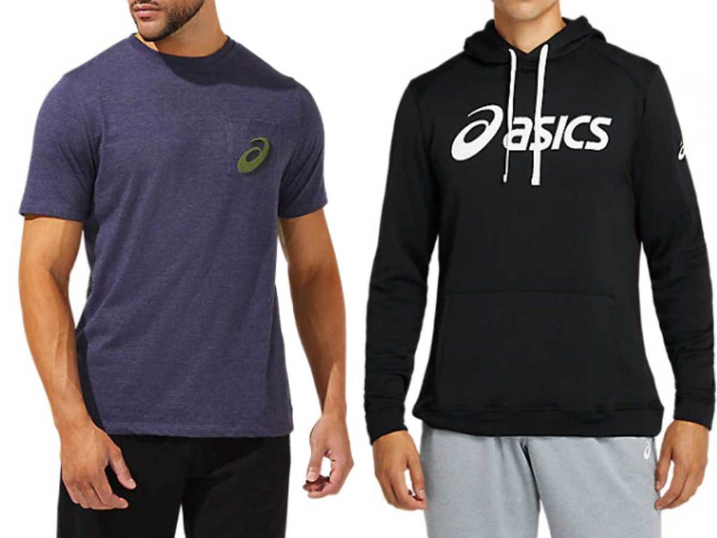 men's tee shirt and sweatshirt
