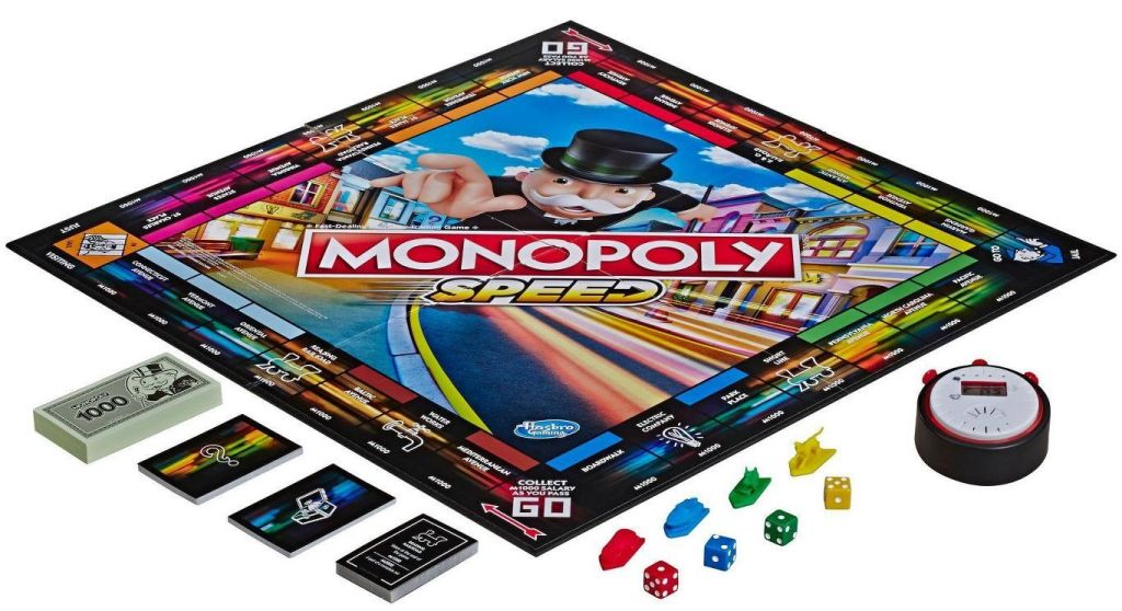 monopoly speed game with pieces