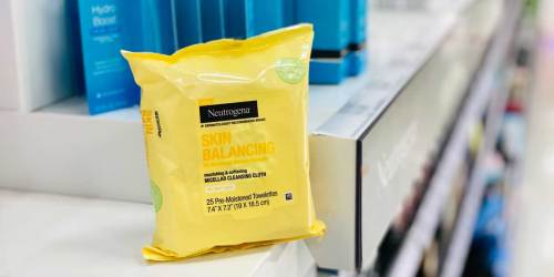 Neutrogena Micellar Cleansing Cloths from $2.34 on Target.com (Regularly $6) | Starts December 6th