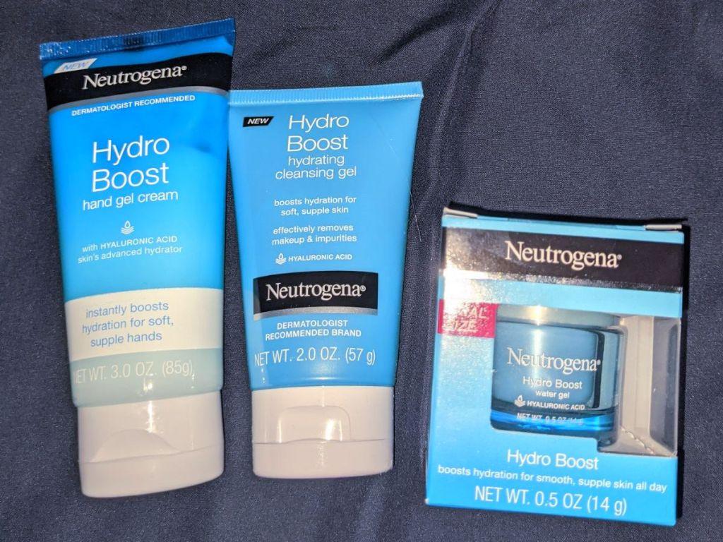 3 Neutrogena Hydro Boost items