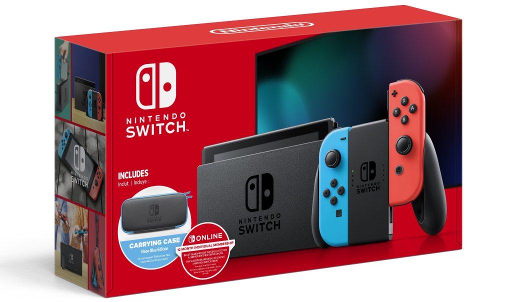 nintendo switch in box