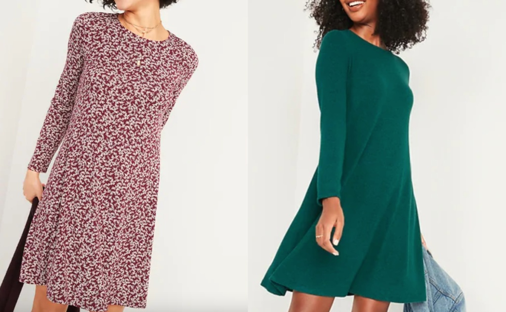 old navy womens dresses on two women