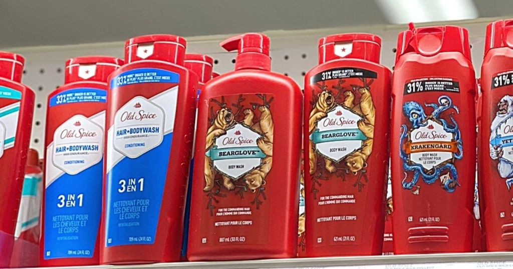 old spice body washes