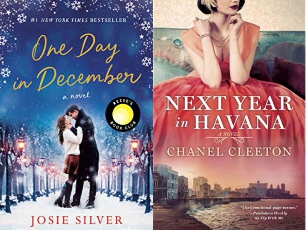 book covers of one day in december and next year in havana books