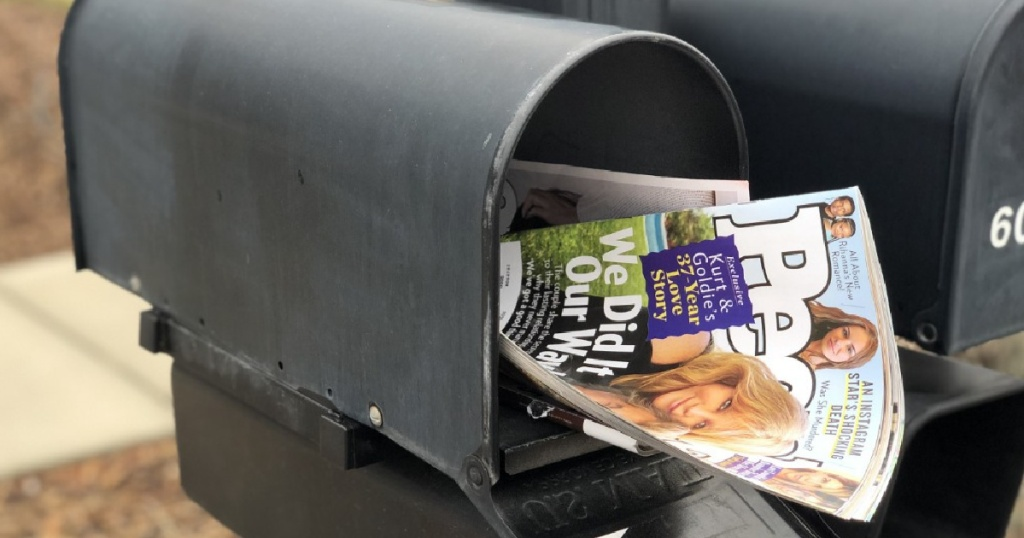 people magazine in mailbox