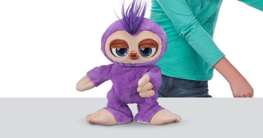 purple sloth toy