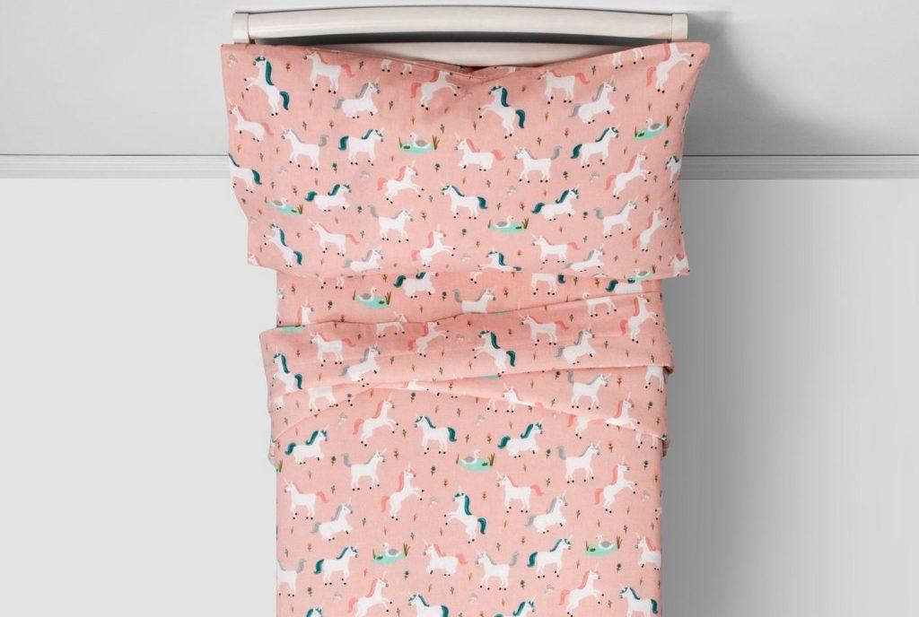 pillowfort sheets unicorn pattern