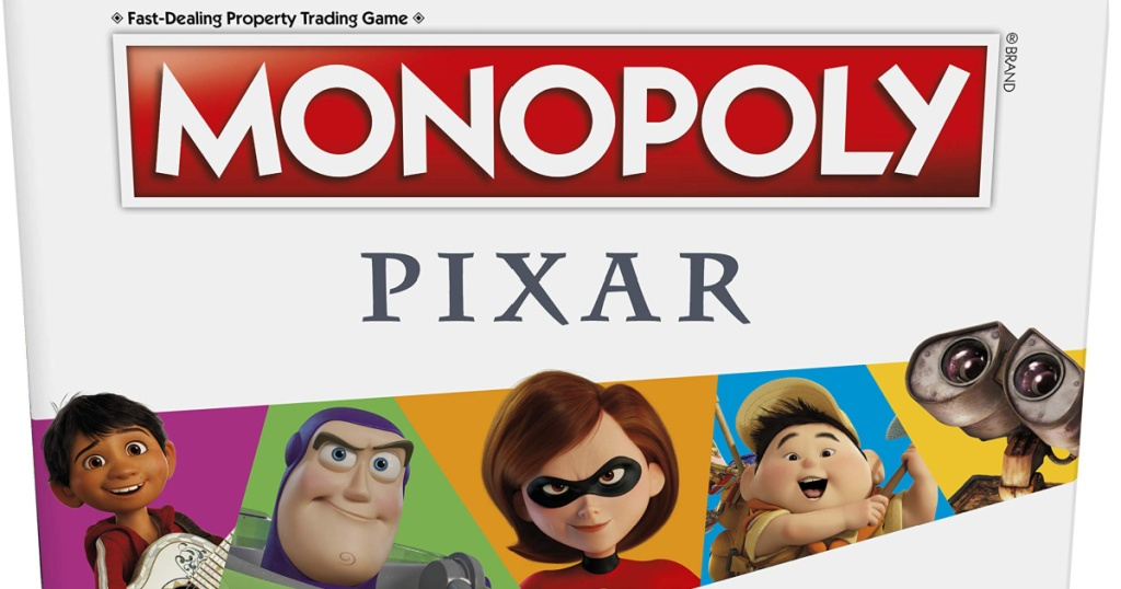 pixar monopoly game box