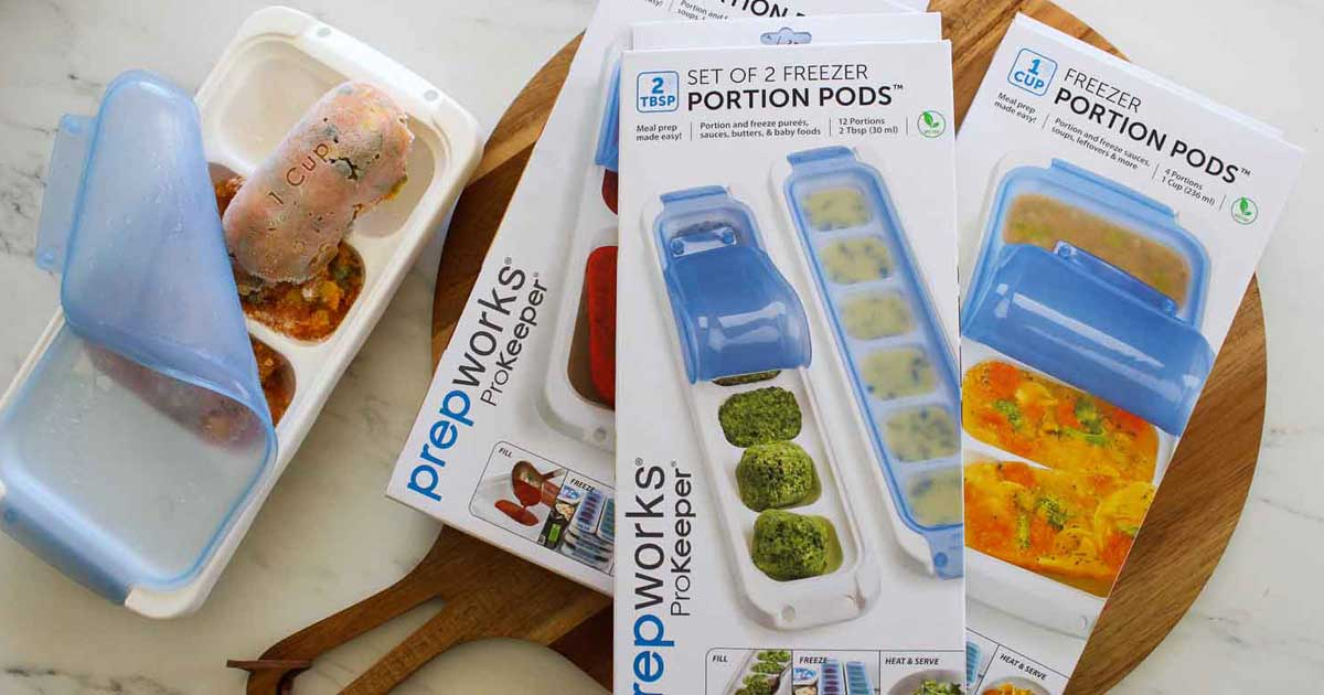 containers of food freezer pods