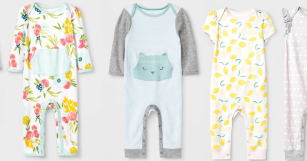 3 infant rompers
