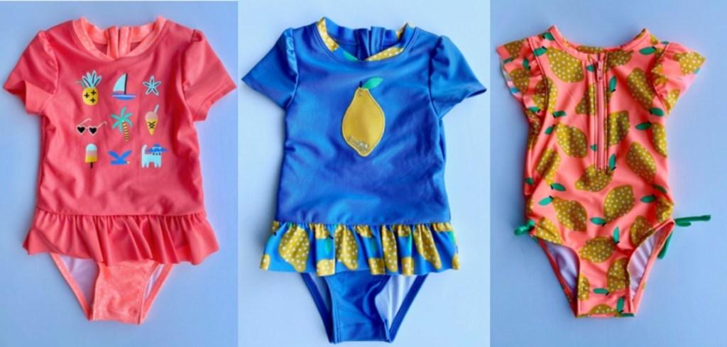3 infant swim suits