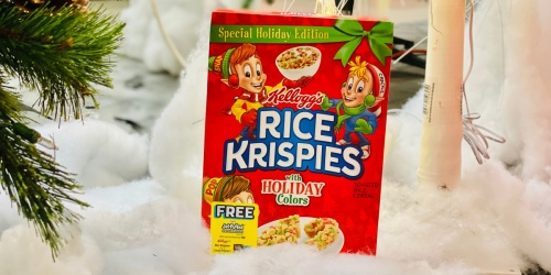Holiday Edition Rice Krispies Cereal Only $2.98 at Walmart | Make Festive Krispie Treats