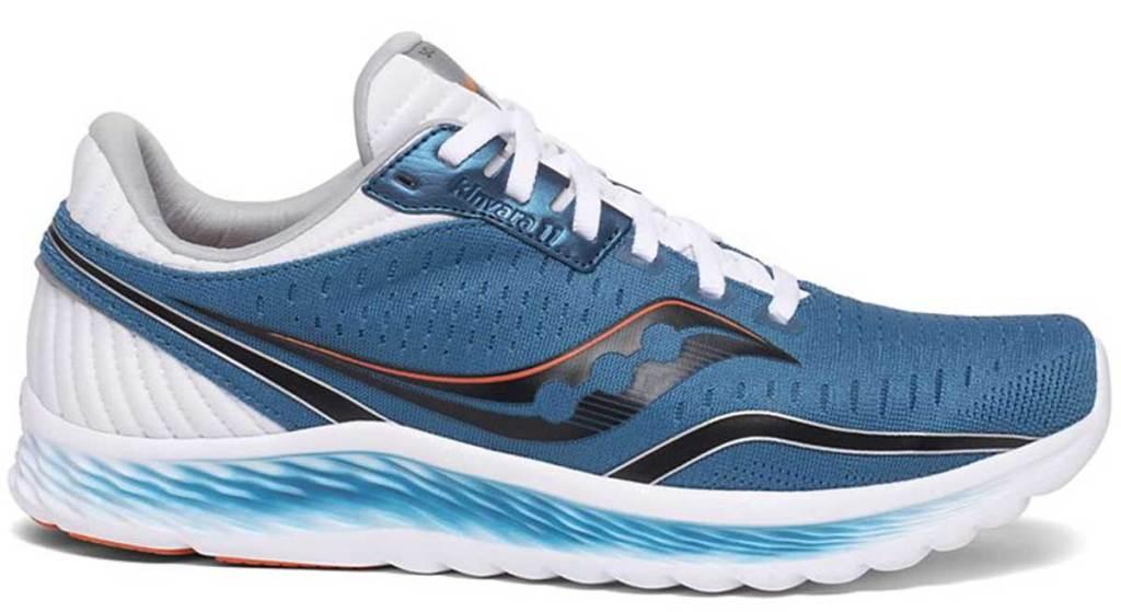 sepatu lari pria dengan warna biru