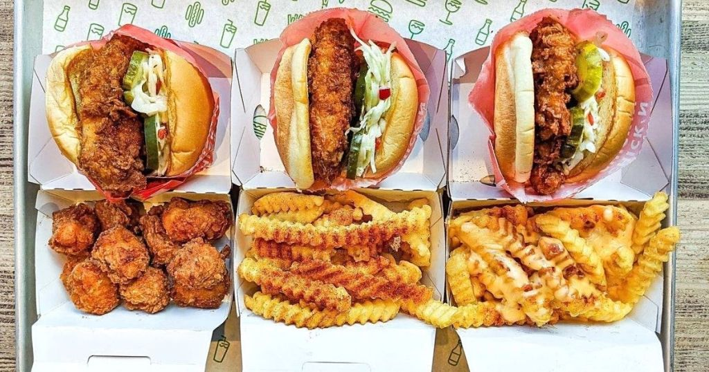 shake shack chicken sandwiches and fries