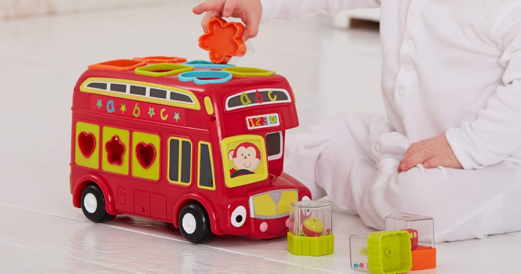baby using shape bus baby toy