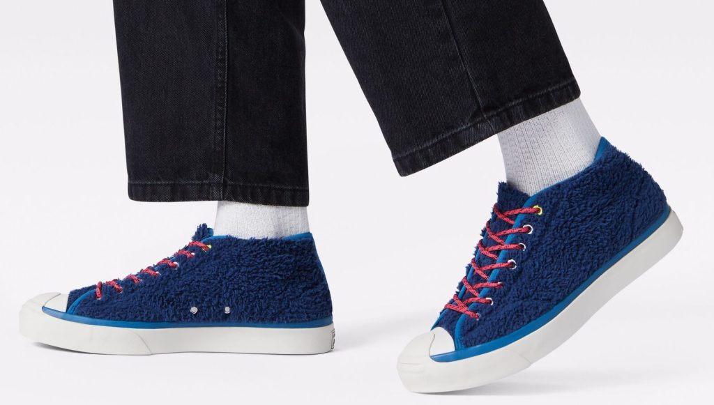 sherpa converse on feet