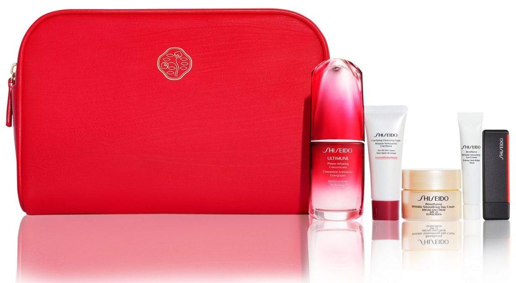 shiseido 6-piece gift set with box