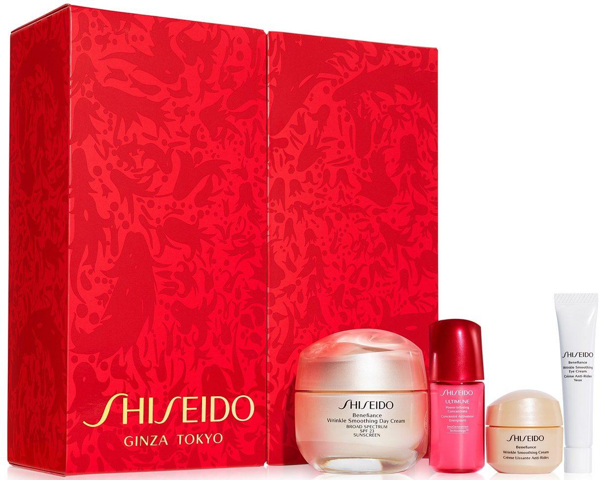 shiseido benefiance smooth skin gift set with box