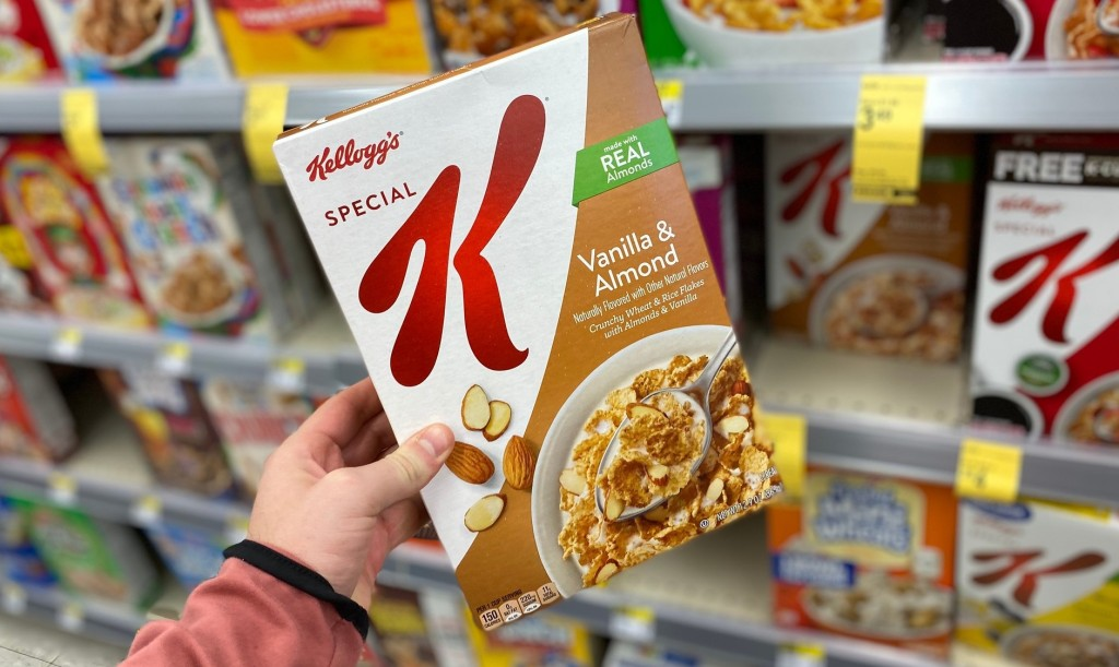 special k cereal in hand in store at walgreens