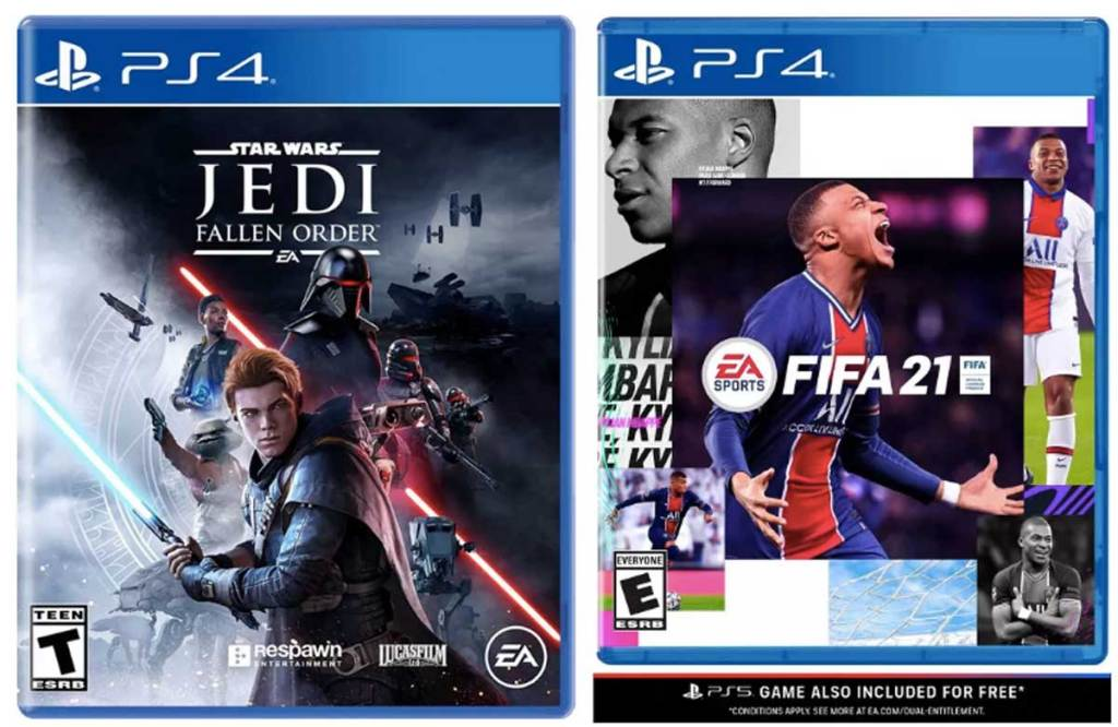 star wars and fifa 21 games for ps4