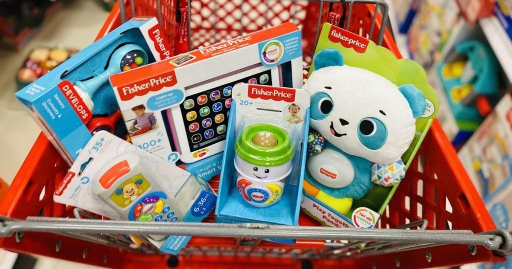 cart full of toys