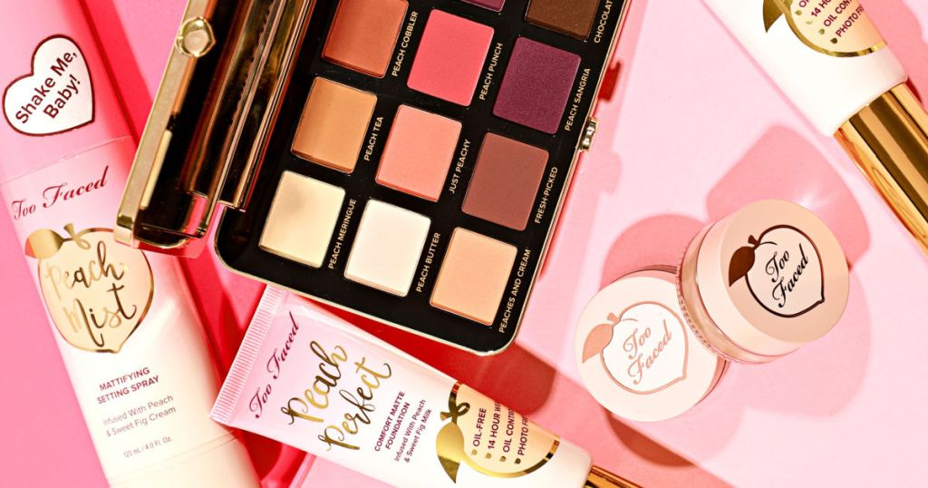 multiple too faced peaches beauty products