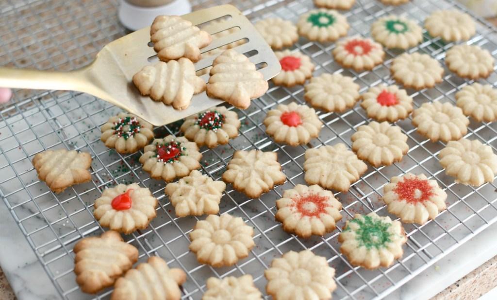 transferring cookies to cooling rack