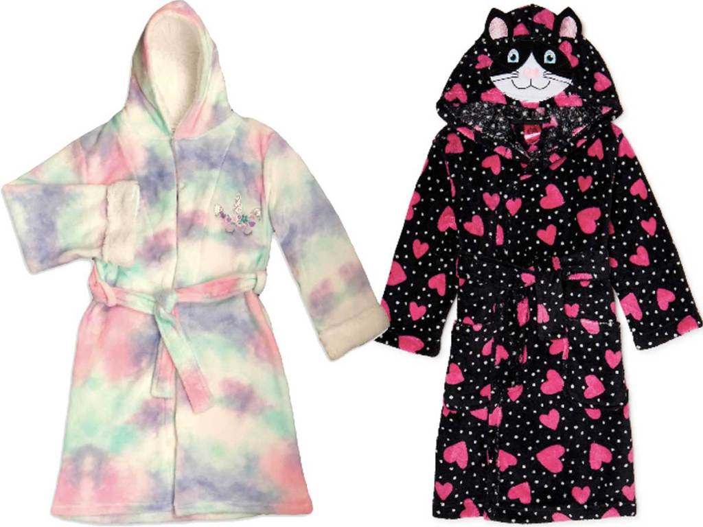 tie dye and heart robes