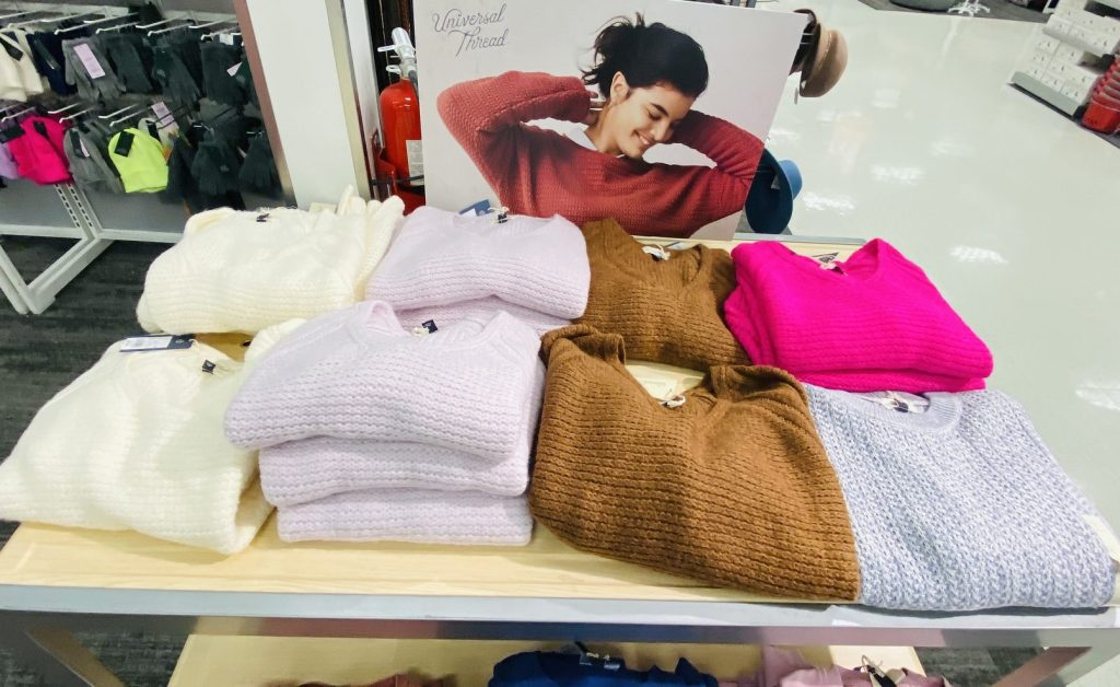 universal thread sweaters in store at target