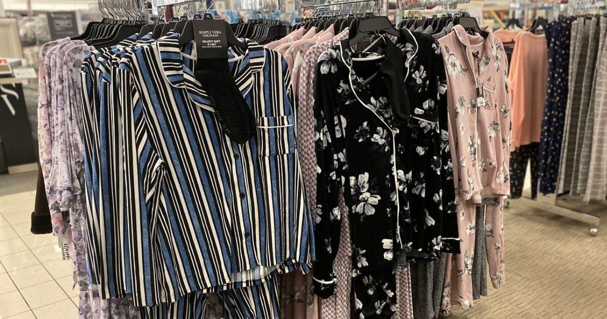 display of vera wang womens pajamas at kphls