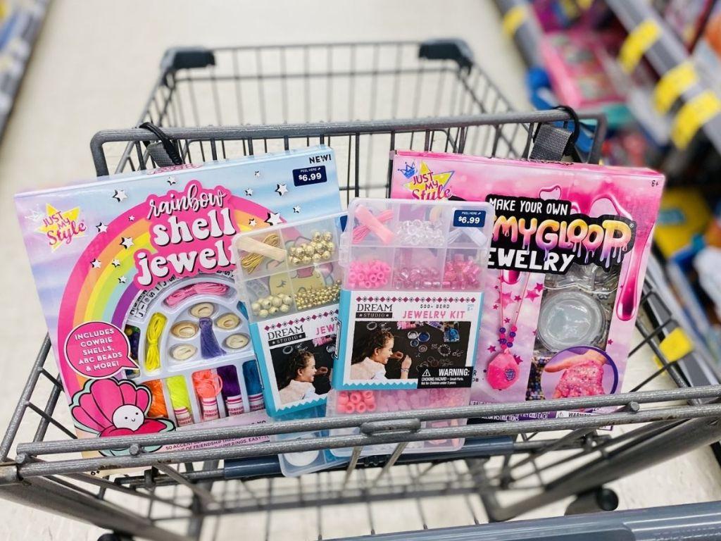 Walgreens cart full of art kits