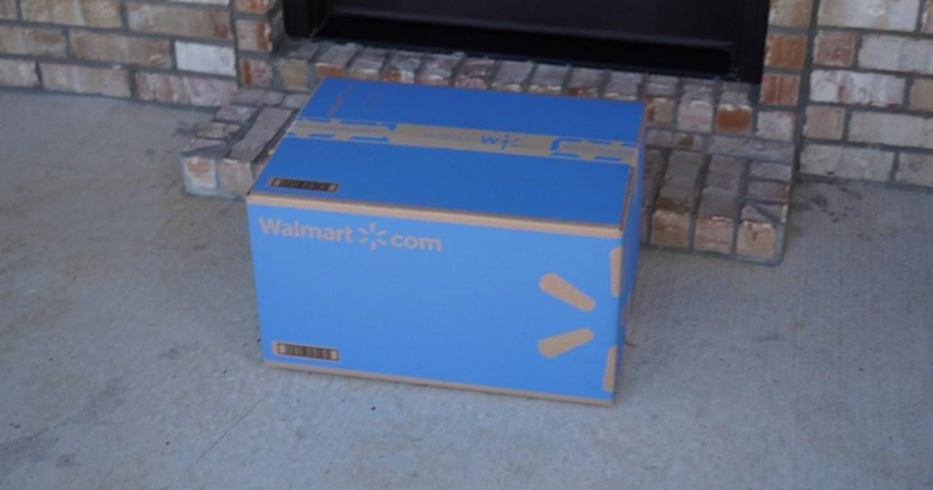 Walmart box on porch