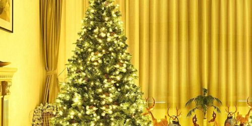 4′ Artificial Christmas Tree w/ 100 Lights Only $38.99 (Regularly $65)
