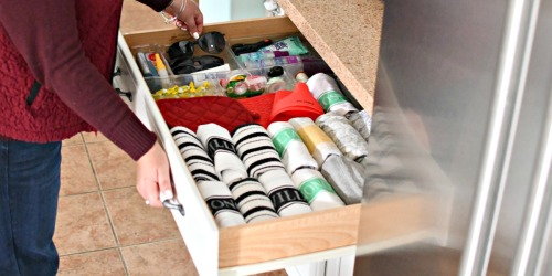 How I Finally Got My Junk Drawer and Kitchen Towels Organized!
