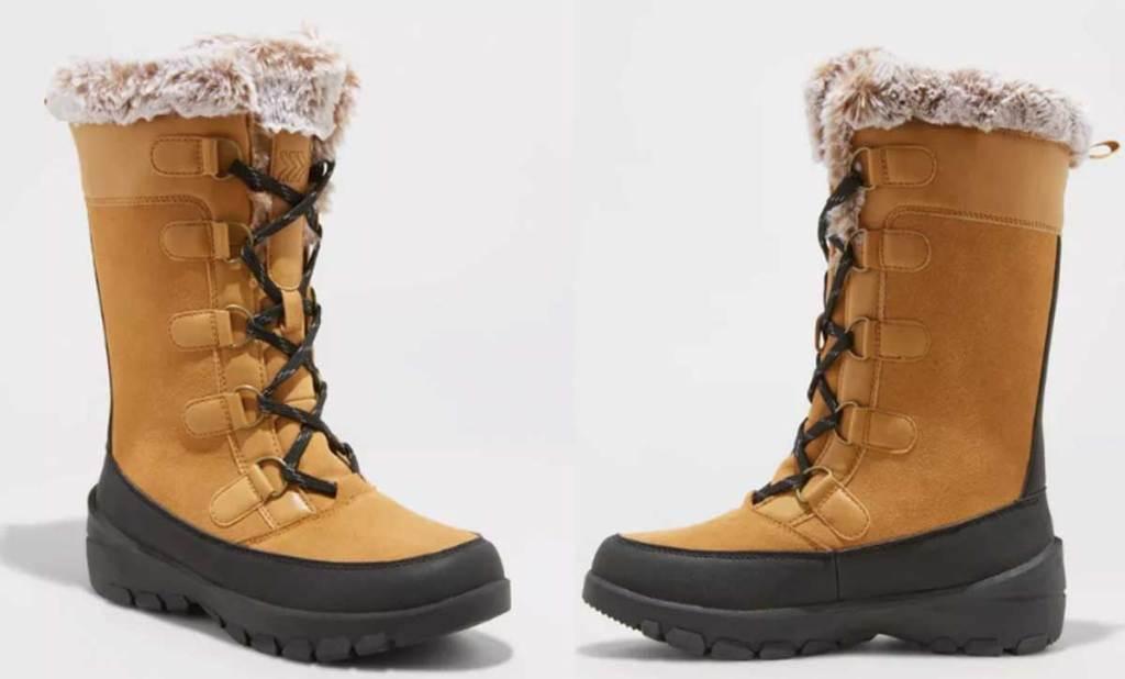 women's sorel like boots stock image