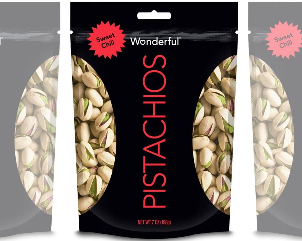 wonderful pistachios in bag
