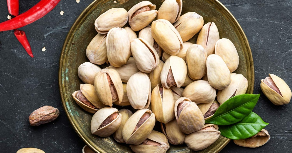 wonderful sweet chili pistachios in bowl