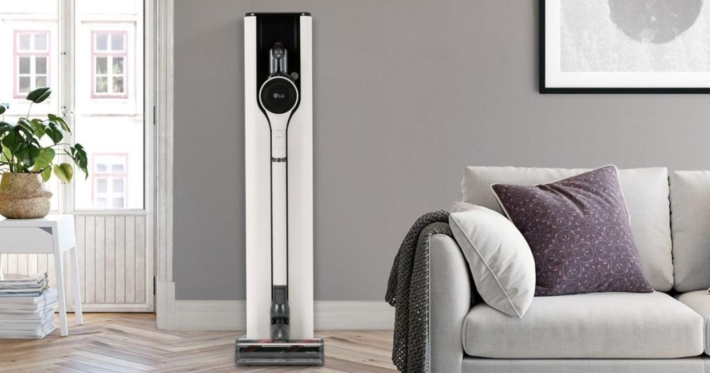 LG corless vacuum in charging station