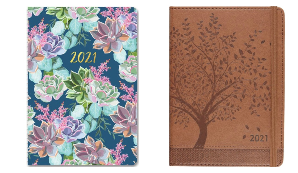 2021 planners floral and leather