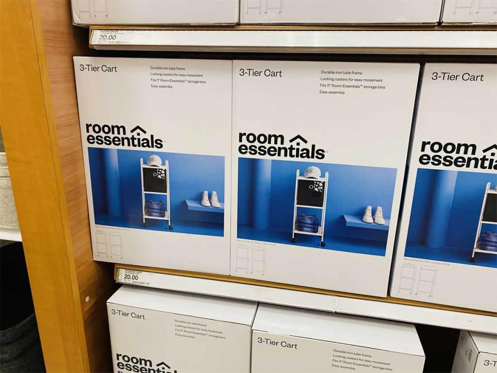 room essentials 3 tier cart in white